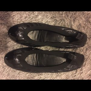 Chanel black stretch spirit ballet flats